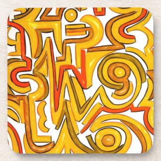 Crop Circles - Abstract Art Geometric Beverage Coaster