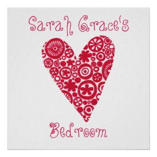 Crop Circles Heart Customizable Poster