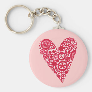 Crop Circles Heart Keychain