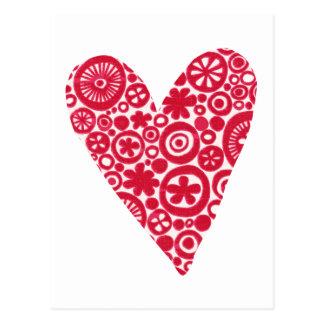 Crop Circles Heart Postcard