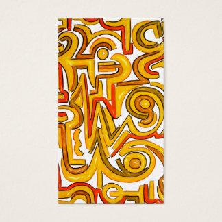 Crop Circles-Modern Art Geometric Business Card
