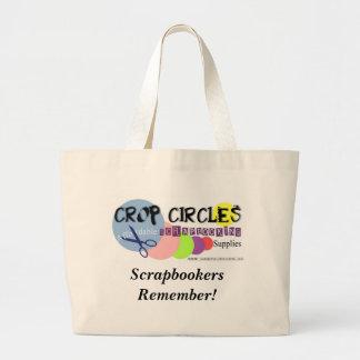Crop-Circles, Scrapbookers Remember! Large Tote Bag