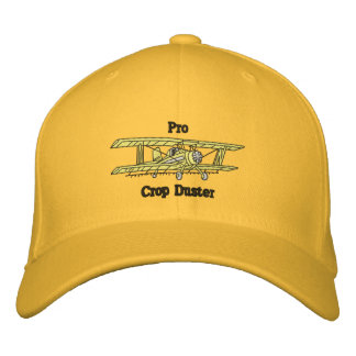 Crop Duster Embroidered Baseball Caps