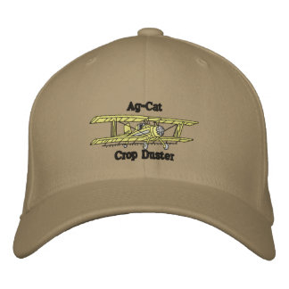 crop duster embroidered hat
