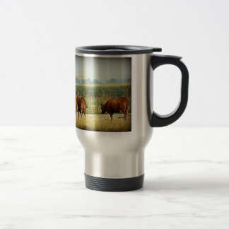 Crop Duster Silver Travel Mug
