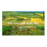 Crop farm business card business cards