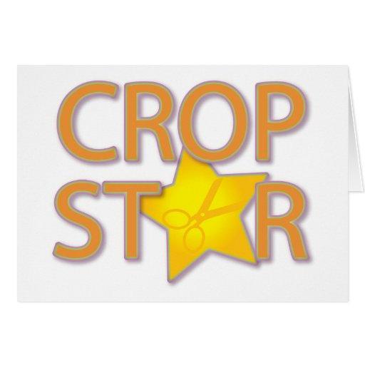 Crop Star Greeting Card