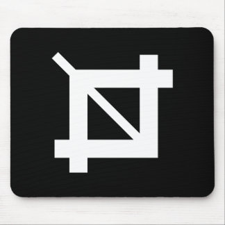 Crop Tool Pictogram Mousepad