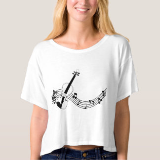 Crop top cuts feminine rectum Bella+Canvas, Violin