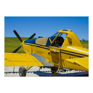 "Cropduster Plane, Genesee, Idaho (28""x20"" Poster)"