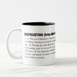 Cropdusting 1 Two-Tone coffee mug