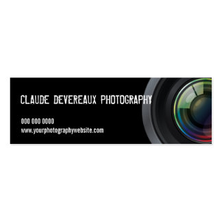 Cropped Camera Lens Photographers Business Cards