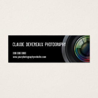 Cropped Camera Lens Photographers Mini Business Card