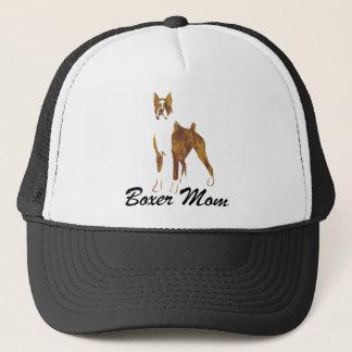 Cropped Ear Boxer Mom Trucker Hat