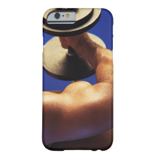 Cropped shot of man lifting weights barely there iPhone 6 case