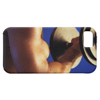 Cropped shot of man lifting weights iPhone SE/5/5s case