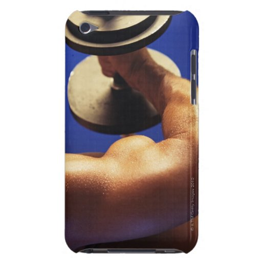 Cropped shot of man lifting weights iPod Case-Mate cases