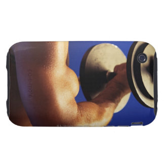 Cropped shot of man lifting weights tough iPhone 3 cases