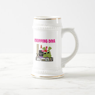 Cropping Diva Beer Stein