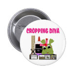 Cropping Diva Pinback Button