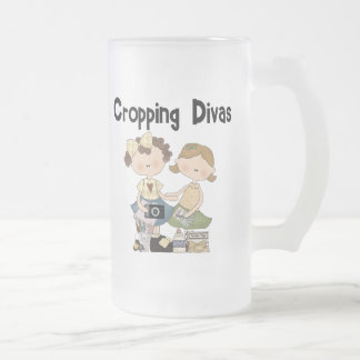Cropping Divas 16 Oz Frosted Glass Beer Mug