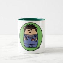 Croquepisco Scrubs Hamster Two-Tone Coffee Mug