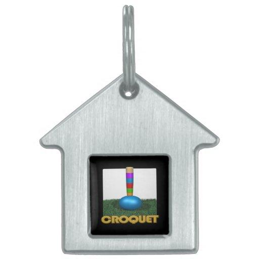 Croquet 2 pet name tags
