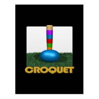 Croquet 2 postcard