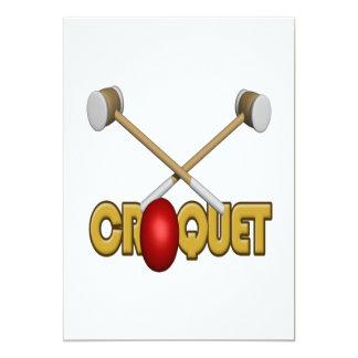 """Croquet 3 invitación 5"""" x 7"""""""