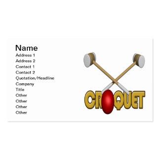 Croquet 3 plantillas de tarjeta de negocio