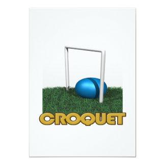 """Croquet 4 invitación 5"""" x 7"""""""