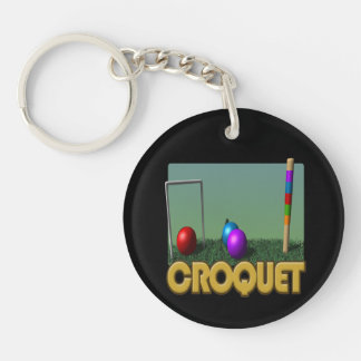 Croquet 5 Double-Sided round acrylic keychain
