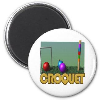 Croquet 5 imán de frigorifico