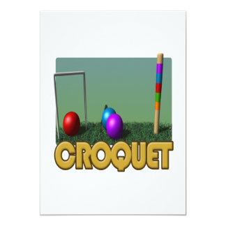"""Croquet 5 invitación 5"""" x 7"""""""