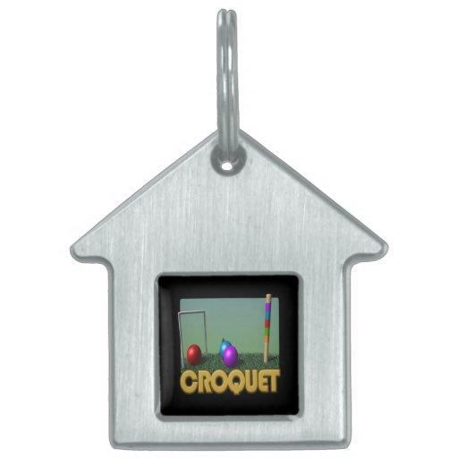 Croquet 5 pet name tags