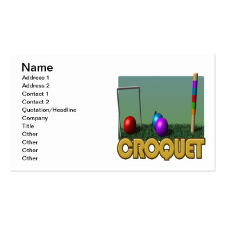 Croquet 5 tarjeta de visita