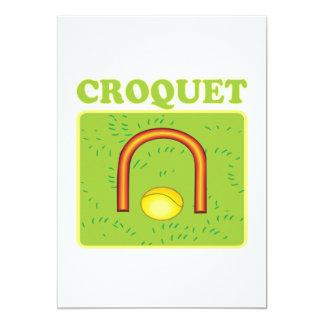 """Croquet 6 invitación 5"""" x 7"""""""