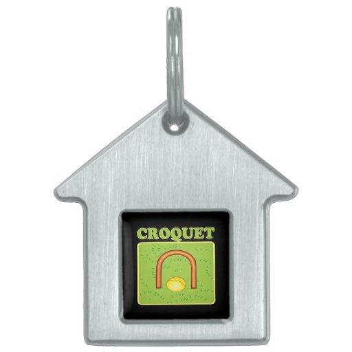 Croquet 6 pet name tags