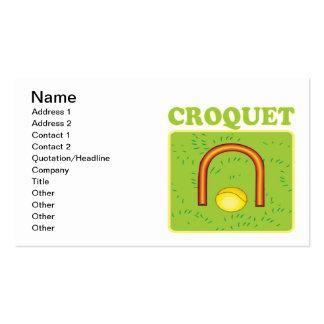 Croquet 6 plantilla de tarjeta de visita