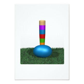 """Croquet 7 invitación 5"""" x 7"""""""