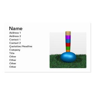 Croquet 7 tarjeta de negocio