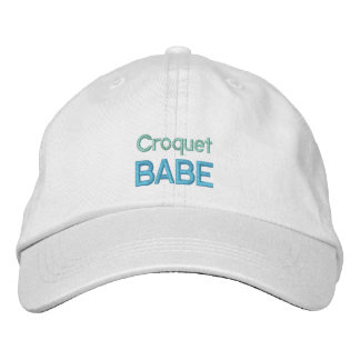 CROQUET BABE cap Embroidered Hats
