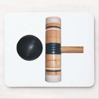 Croquet Ball and Mallet Mouse Pad
