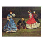 Croquet By Homer Winslow (Best Quality) Custom Announcements