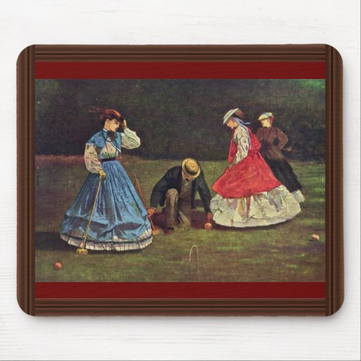 Croquet By Homer Winslow (Best Quality) Mouse Pad