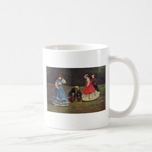 Croquet By Homer Winslow (Best Quality) Classic White Coffee Mug