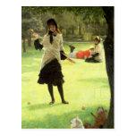 Croquet, c.1878 postcard