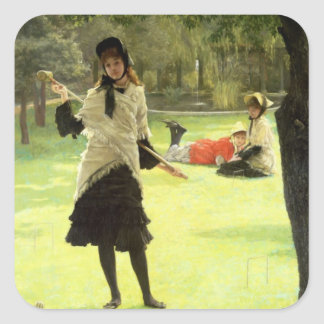 Croquet, c.1878 square sticker