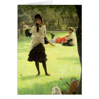 Croquet, c.1878 tarjetón