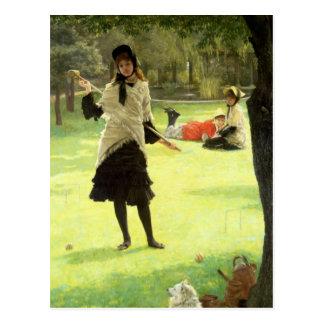 Croquet, c.1878 postal
